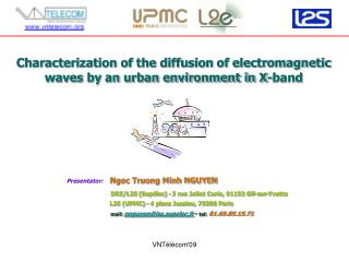 Characterization of the diffusion of electromagnetic waves by an urban environment in X-band
