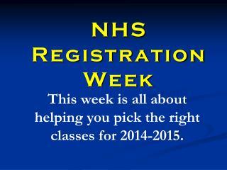 NHS Registration Week