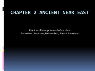 Chapter 2 Ancient Near East