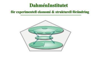 DahménInstitutet  för experimentell ekonomi & strukturell förändring