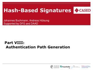 Hash-Based Signatures