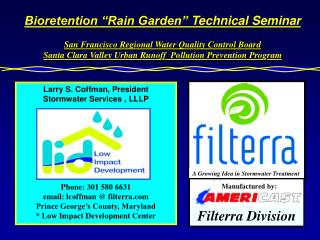 "Bioretention ""Rain Garden""  Technical Seminar"