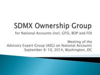 SDMX Ownership Group