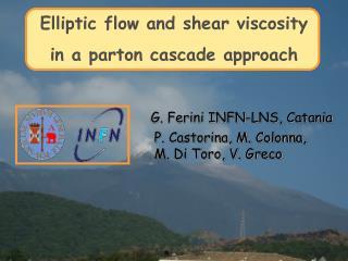 Elliptic flow and shear viscosity  in a parton cascade approach