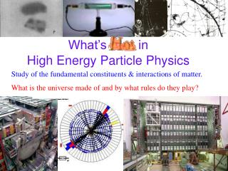 What�s  Hot  in High Energy Particle Physics