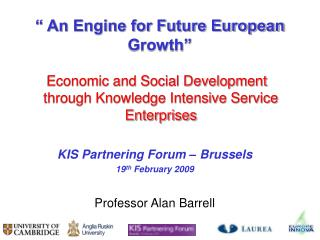 """ An Engine for Future European Growth"""