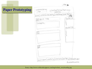 Paper Prototyping