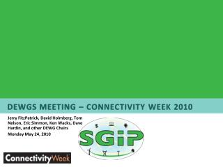 3:30 SG Domain Expert Working Groups Joint Session  Charter Overview