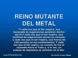 REINO MUTANTE DEL METAL