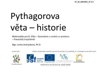 Pythagorova v?ta �  historie
