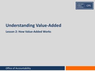Understanding Value-Added