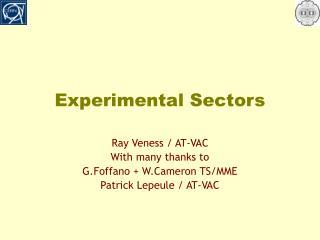Experimental Sectors