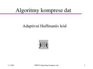 Algoritmy komprese dat