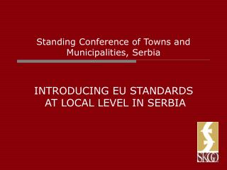 Standing Conference of Towns and Municipalities, Serbia