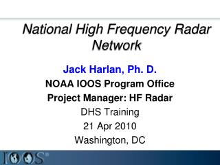 National High Frequency Radar Network