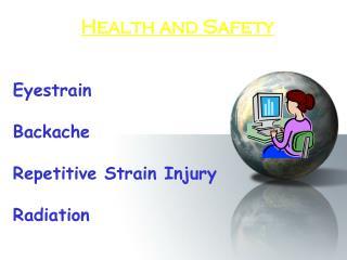 Eyestrain Backache Repetitive Strain Injury Radiation