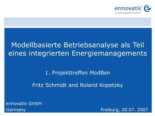 Modellbasierte Betriebsanalyse als Teil eines integrierten Energiemanagements