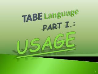TABE Language
