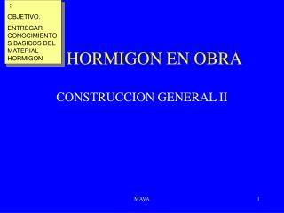 EL HORMIGON EN OBRA