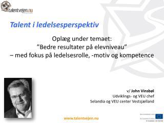 Talent i ledelsesperspektiv