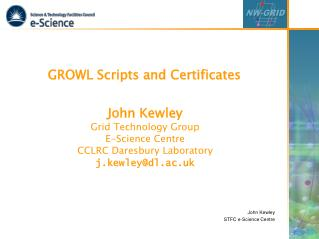 GROWL Scripts and Certificates