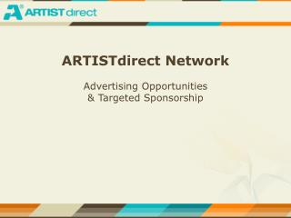 Click here for an ARTISTdirect Media Kit