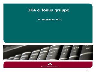 IKA e-fokus gruppe