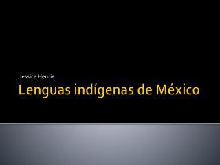 Lenguas  ind�genas de M�xico