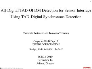 All-Digital TAD-OFDM Detection for Sensor Interface Using TAD-Digital Synchronous Detection