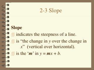 2-3 Slope