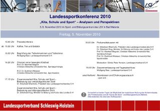 Landessportkonferenz 2010