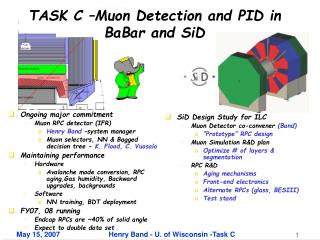 TASK C –Muon Detection and PID in BaBar and SiD