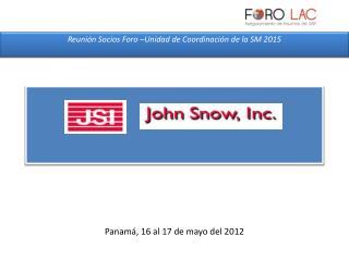 Panamá, 16 al 17 de mayo del  2012