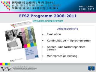EFSZ Programm 2008-2011  ecml.at