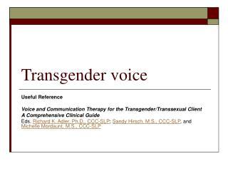 Transgender voice
