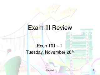 Exam III Review