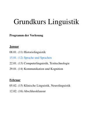 Grundkurs Linguistik