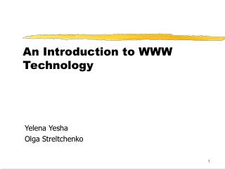 An Introduction to WWW Technology