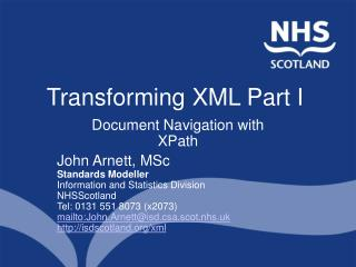 Transforming XML Part I