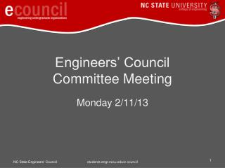 Engineers� Council  Committee Meeting