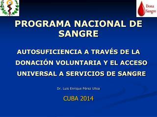 PROGRAMA NACIONAL DE SANGRE