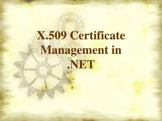 X.509 Certificate  Management in  .NET