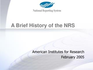 American Institutes for Research February 2005