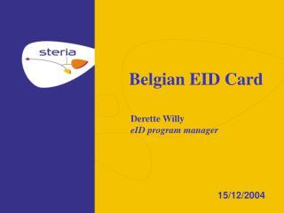 Belgian EID Card