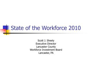 State of the Workforce 2010
