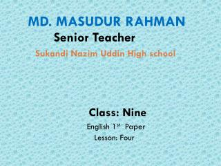 Sukandi Nazim Uddin  High school