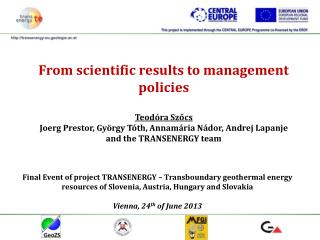 From scientific results to management policies