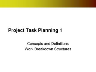 Project Task Planning 1