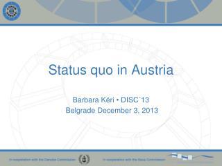 Status quo in Austria