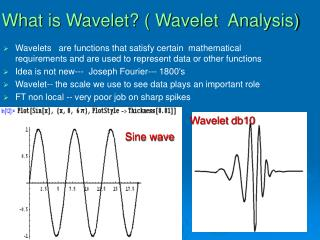 What is Wavelet  Wavelet  Analysis